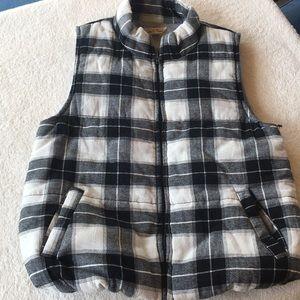 Soft 100% Cotton Plaid Sleeveless Vest